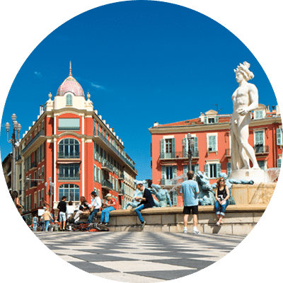 Nice Côte D'Azur, ville où est présente l'École Supérieure Internationale - ESiD
