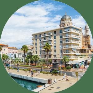 Saint-Raphaël, ville où est présente l'École Supérieure Internationale - ESiD