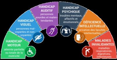 Différents handicaps - ESiD Nice Fréjus